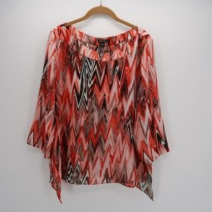 Sam & Jo Abstract Print 3/4 Sleeve Blouse Top